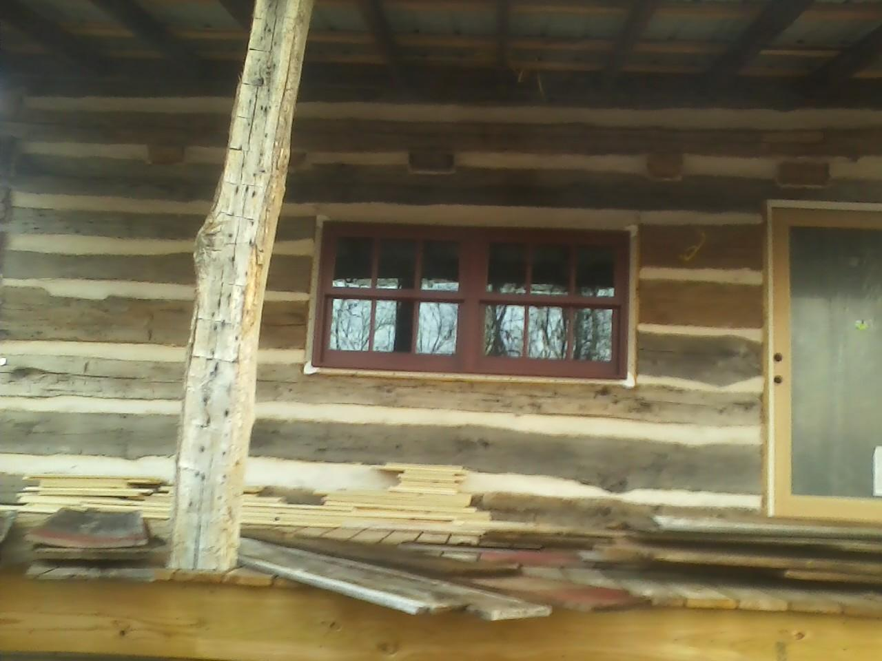 Antique log cabin project nearing completion ozark for Log cabin project