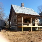 Antique Log Cabin nearing completion