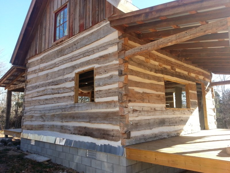 Antique Log Cabin Project Nearing Completion Ozark