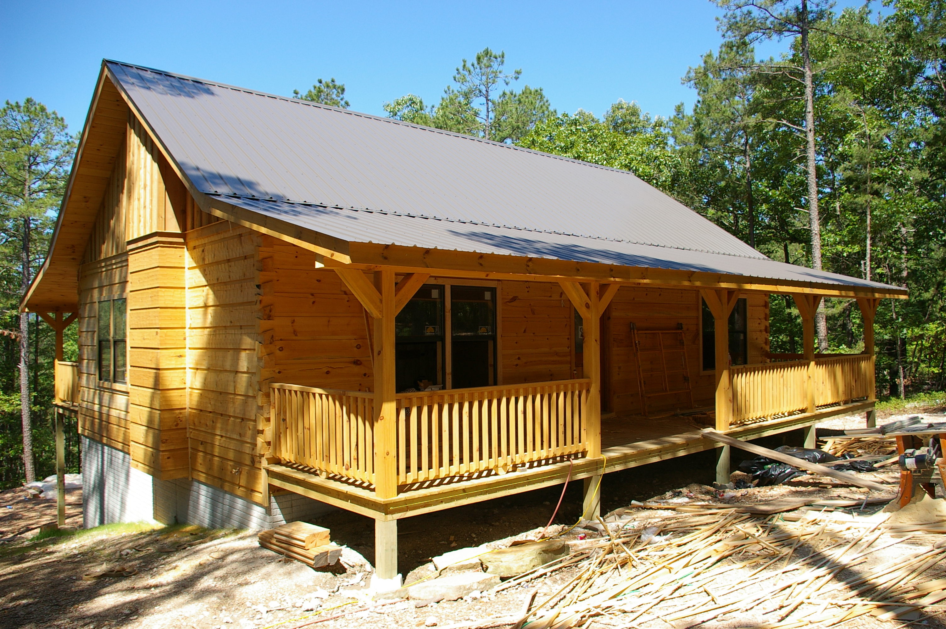 The buffalo cabin near hasty ar ozark custom country for Country home builders near me