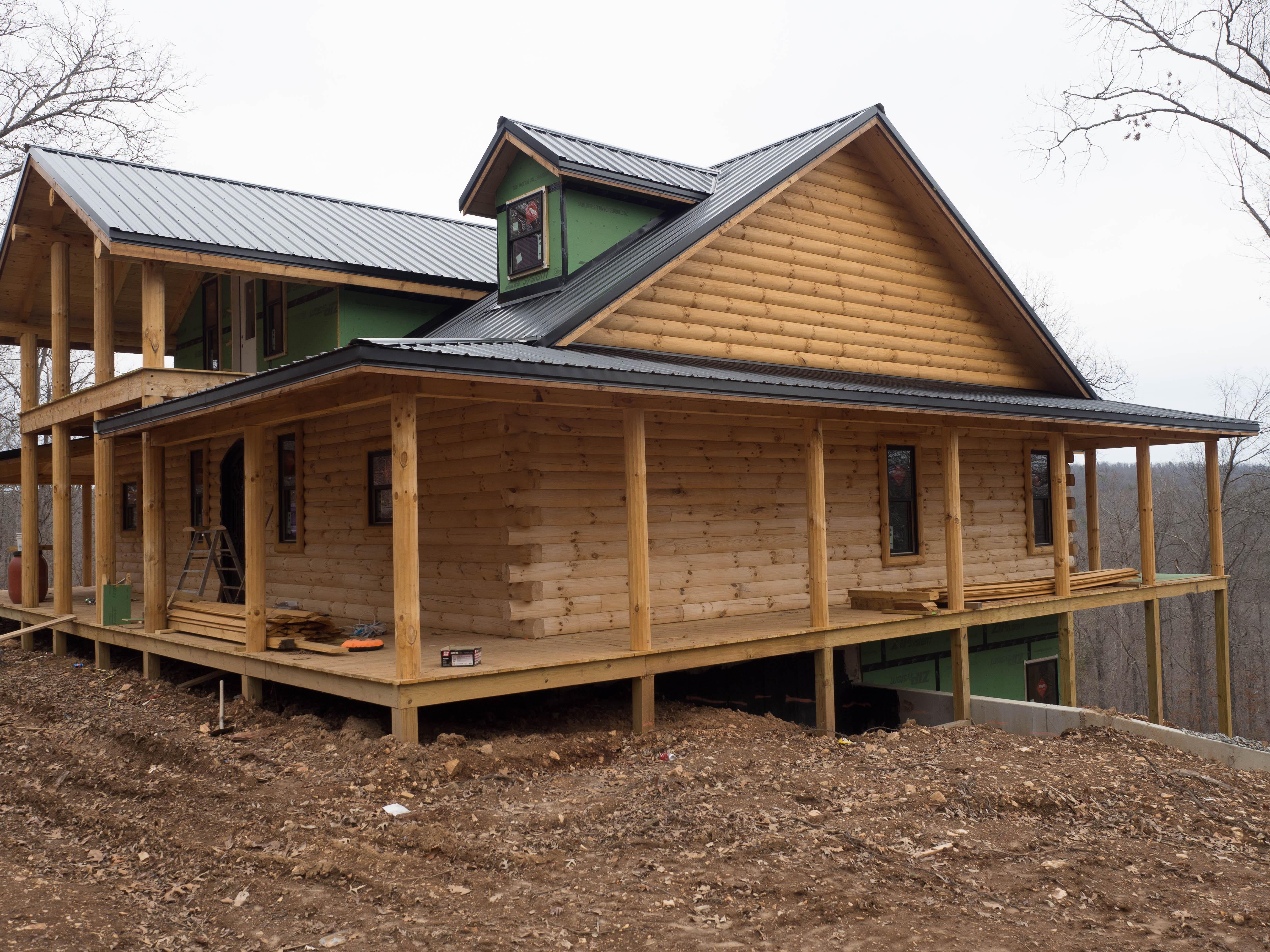 New log home near yellville ar ozark custom country homes for New log homes