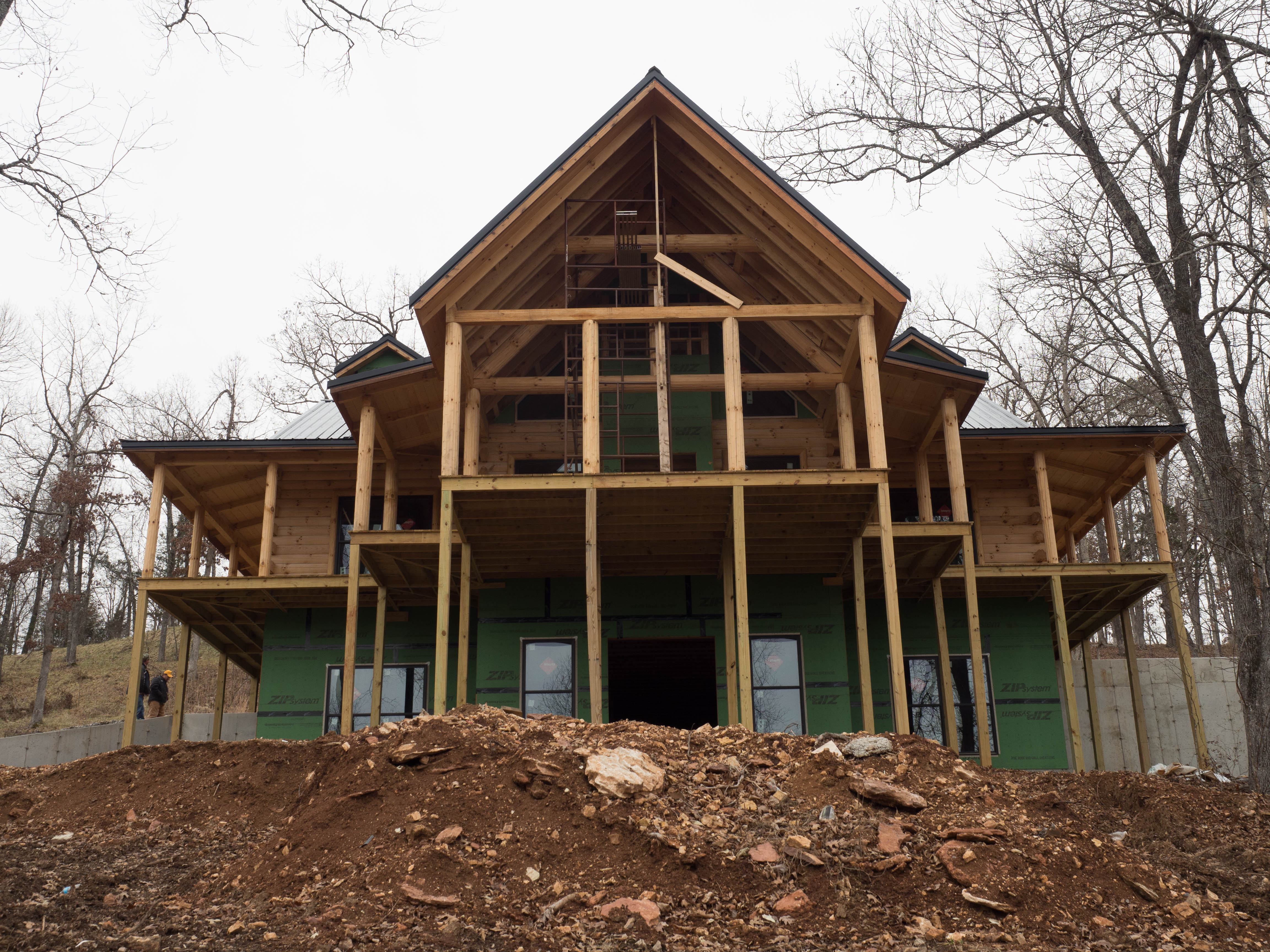 New log home near yellville ar ozark custom country homes for Country home builders near me