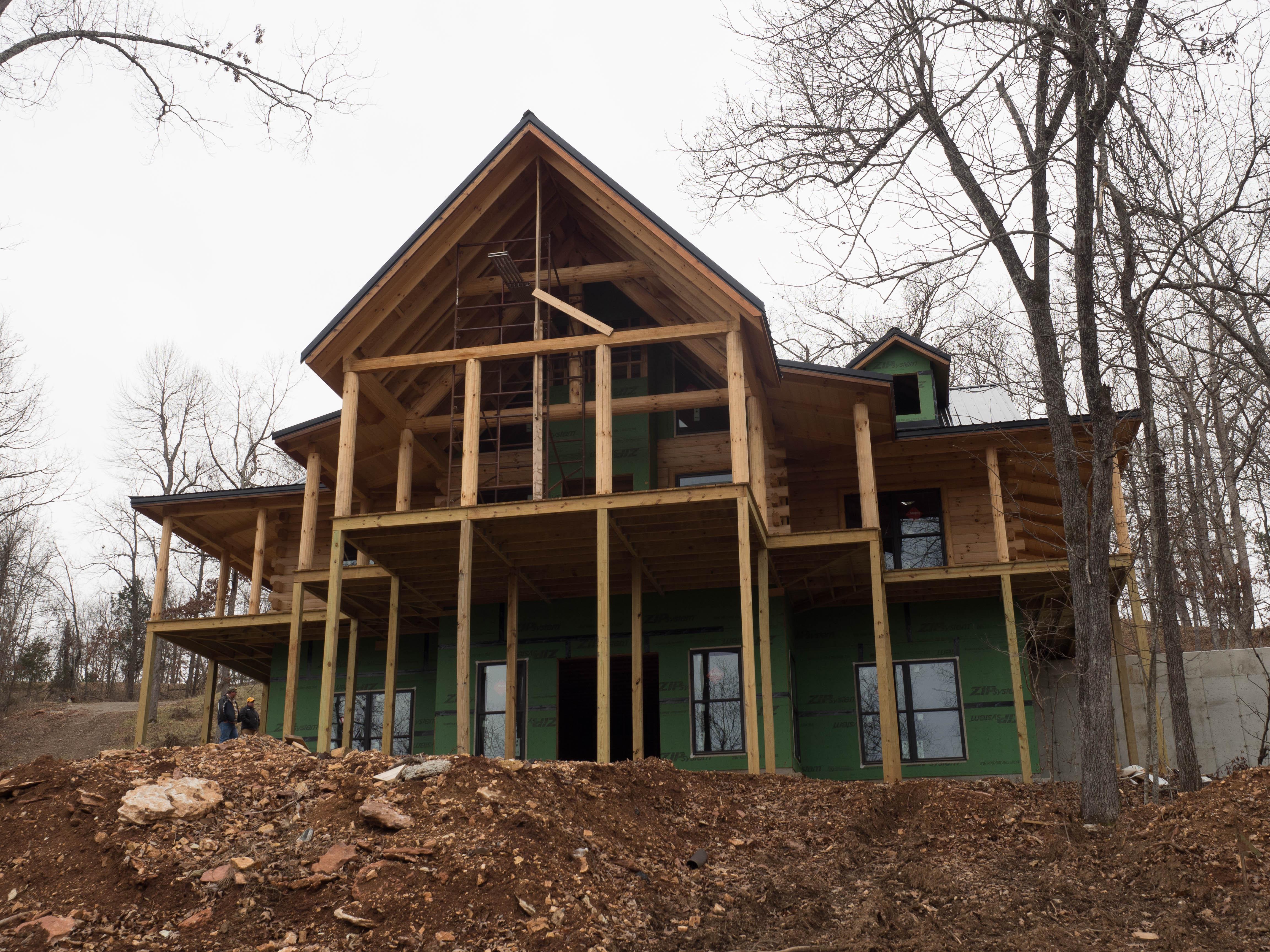 New log home near yellville ar ozark custom country homes for Custom country homes
