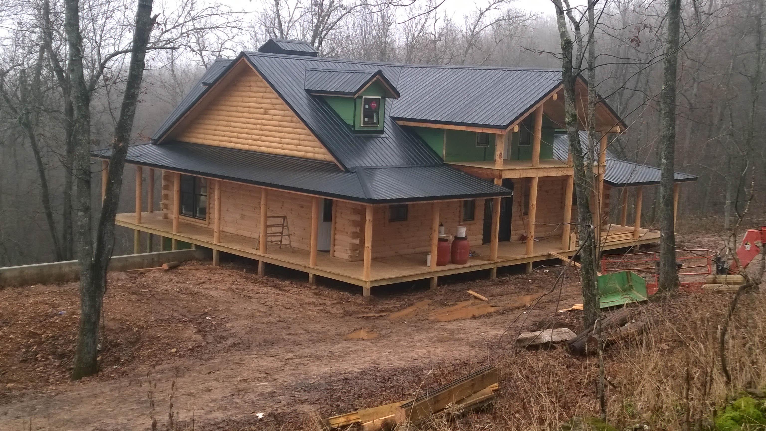 New log home near yellville ar ozark custom country homes for Custom built homes arkansas