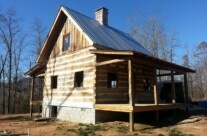 Antique Log Cabin Project nearing Completion
